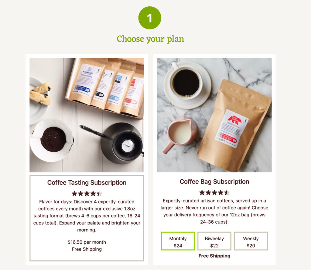 pay per delivery subscription recurring revenue