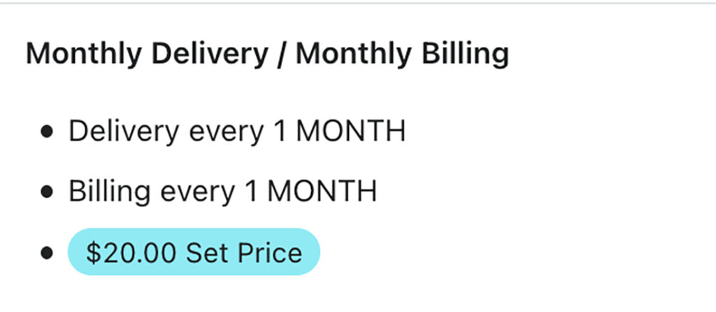 shopify subscription discounts set price plan